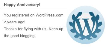 wordpress.com notification